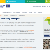 Le site du programme Interreg Europe