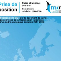 MOT position paper on the preparation of the 2014-2020 common strategic framework