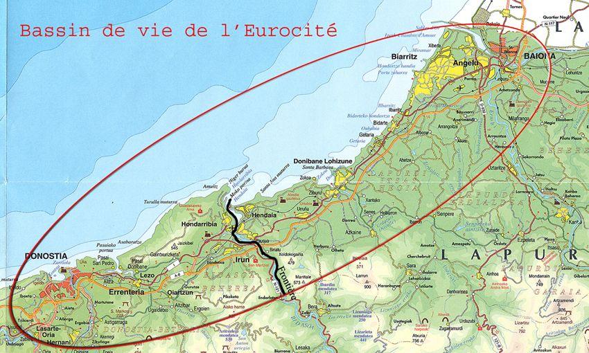 espaces transfrontaliers.org: Territoire de l'Eurocité basque