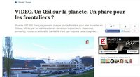"A report on TV channel ""France 2"" covering Franco-Swiss cross-border workers"