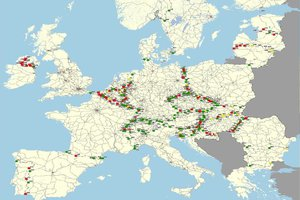 "A study by the European Commission on ""missing cross-border rail links"""