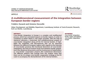"""A multidimensional measurement of the integration between European border regions"""