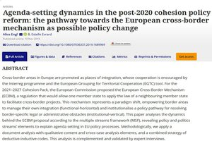 """Agenda-setting dynamics in the post-2020 cohesion policy reform: the pathway towards the European cross-border mechanism as possible policy change"""