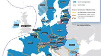 The MOT has produced a map showing the reintroduction of border controls in the Schengen Area following the outbreak