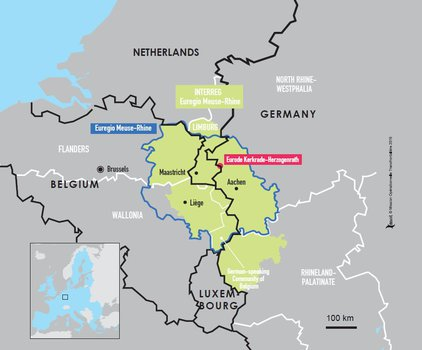 Map Of The Netherlands And Germany.Espaces Transfrontaliers Org Border Factsheets