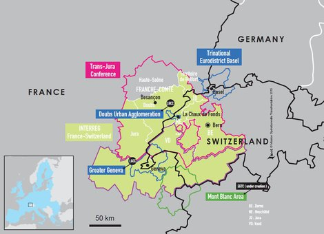 Map Of France Switzerland.Espaces Transfrontaliers Org Border Factsheets