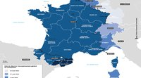 The MOT's maps showing the easing of lockdown measures along France's borders