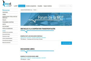 Launch of the MOT's online forum