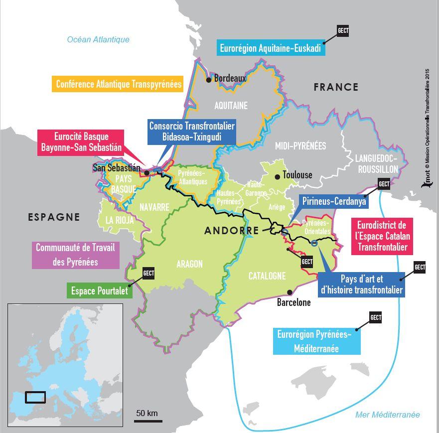 Carte Espagne Telecharger.Espaces Transfrontaliers Org Cartes